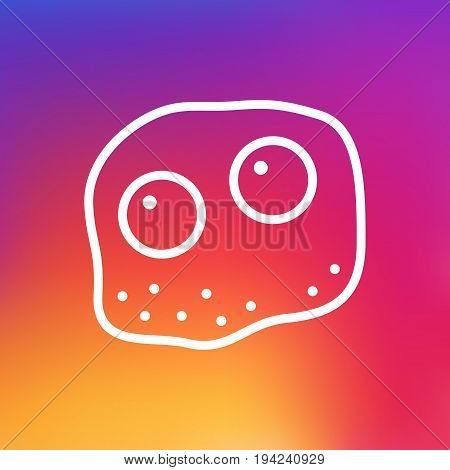 Isolated Eggs Outline Symbol On Clean Background. Vector Omelette Element In Trendy Style.