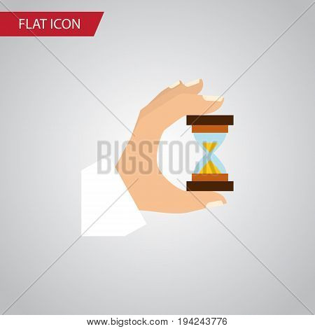 Isolated Measurement Flat Icon. Sandglass Vector Element Can Be Used For Measurement, Hourglass, Sandglass Design Concept.