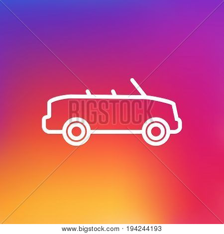 Isolated Coupe Outline Symbol On Clean Background. Vector Cabriolet Element In Trendy Style.