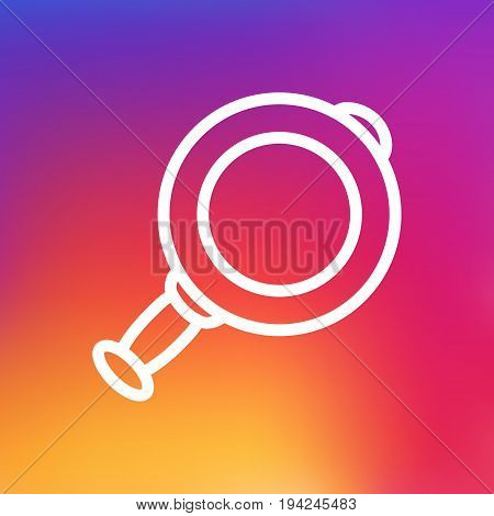 Isolated Loupe Outline Symbol On Clean Background. Vector Magnifier Element In Trendy Style.