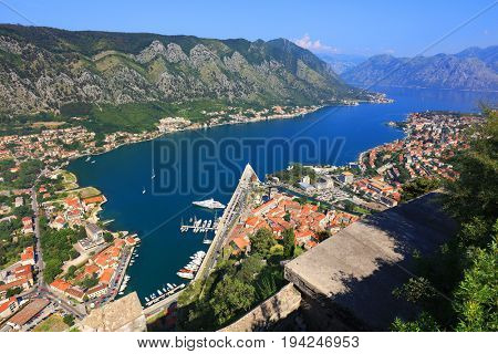 Kotor Fortress in Montenegro, Europe