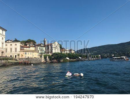 Isola Bella island shore Italy landmark architecture