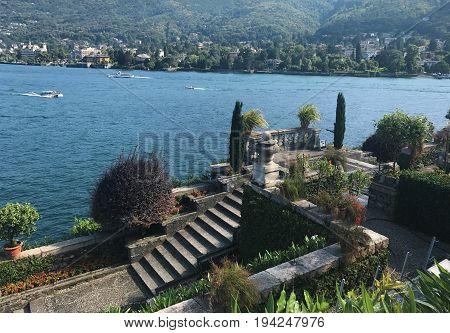 Isola Bella island Italy Maggiore lake landscape