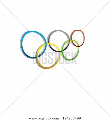 sport rings icon in perspective. vector illustration