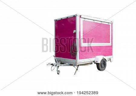 trailer truck semi white isolated container background storage