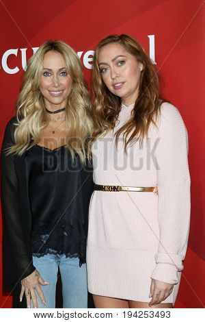 LOS ANGELES - MAR 20:  Tish Cyrus, Brandi Cyrus at the NBCUniversal Summer Press Day at Beverly Hilton Hotel on March 20, 2017 in Beverly Hills, CA