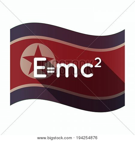 Long Shadow North Korea Flag With The Theory Of Relativity Formula