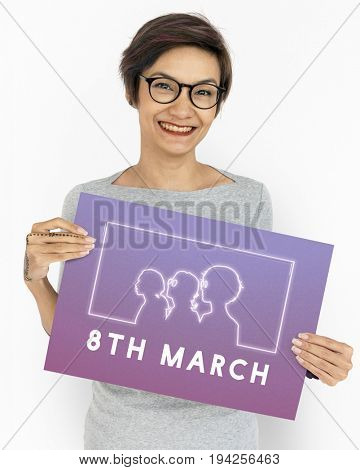 International Women's Day Equality Rights Graphic