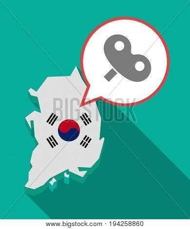 Long Shadow South Korea Map With A Toy Crank
