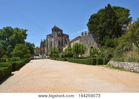 Emplar Church Of The Convent Of The Order Of Christ In Tomar Portugal