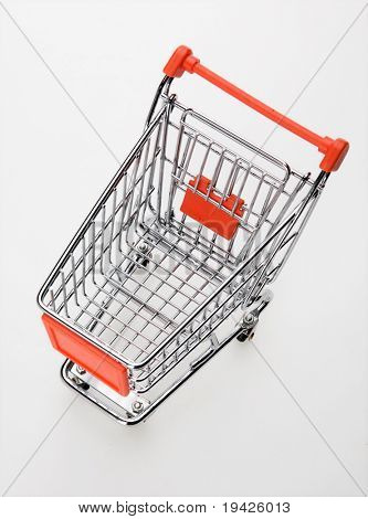 empty shopping cart top view