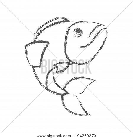 blurred sketch silhouette of largemouth bass fish vector illustration