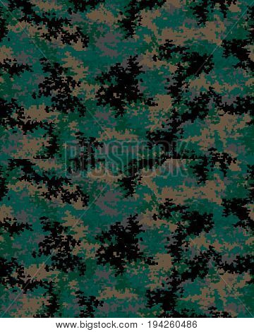 Digital fashionable camouflage pattern, military print .Seamless illustration