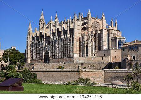 Church and cathedral La Seu in Palma de Mallorca