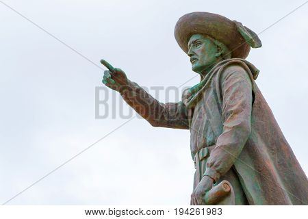 Statue Of Prince Henry The Navigator In Sagres (portugal)