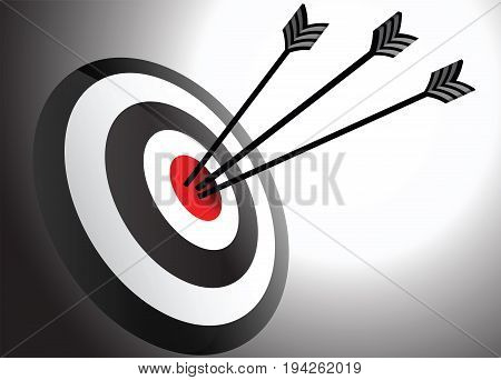 Arrows Hits in the Center at Target Point