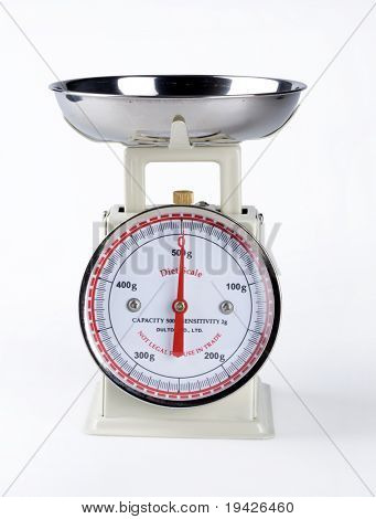 white kitchen scale