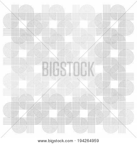 Vector geometric background with joined lines and circles