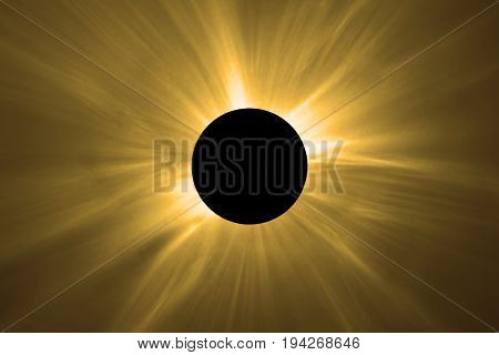Total Solar Eclipse. Total Solar Eclipse Corona.