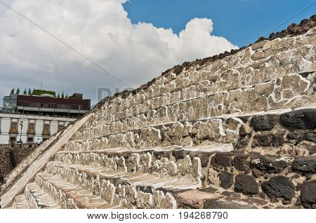 Ruins Of Templo Mayor Of Tenochtitlan. Mexico City.