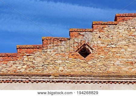 Wall of Medzhybizh castle, Ukraine. Medzhybizh Castle was built as a bulwark against Ottoman expansion in the 1540s