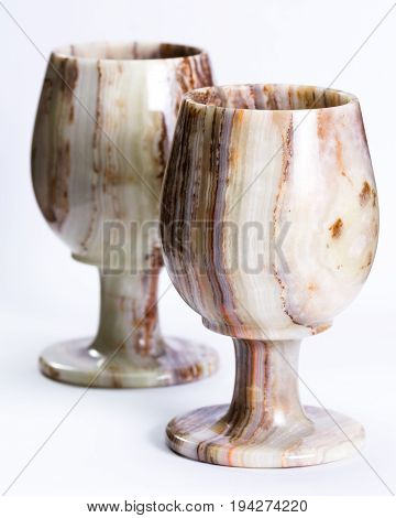 Onyx Chalice On A White Background