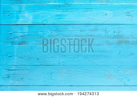 Photo of blue wooden texture, board horizontally