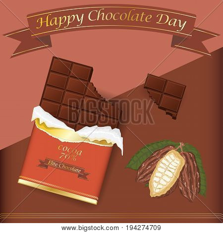 Vector background for creating design, world chocolate day