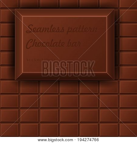 Seamless pattern chocolate bar vector background eps10