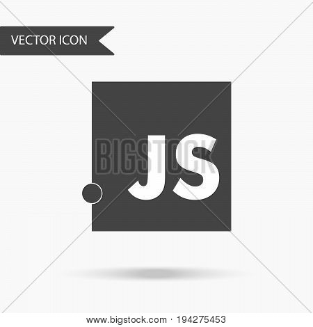 Vector illustration of a programming language Javascript icon. Flat icon on white background