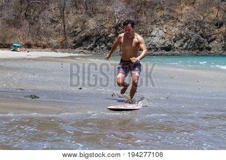 Skim Boarding In Costa Rica