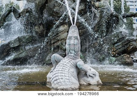 Creatures, Figures And Faces - Sculptures Of The Neptune Fountain In  Berlin