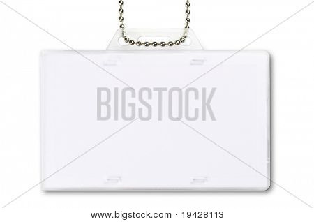 ID card holder isolated on pure white
