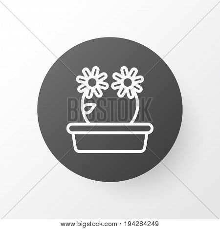 Peony Icon Symbol. Premium Quality Isolated Floral Element In Trendy Style.