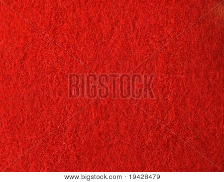 Red felt texture