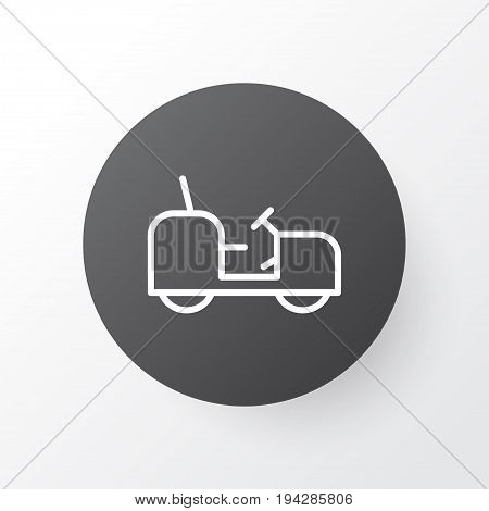 Tractor Icon Symbol. Premium Quality Isolated Agrimotor Element In Trendy Style.