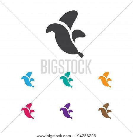 Vector Illustration Of Business Symbol On Banana Icon. Premium Quality Isolated Jungle Fruit Element In Trendy Flat Style.