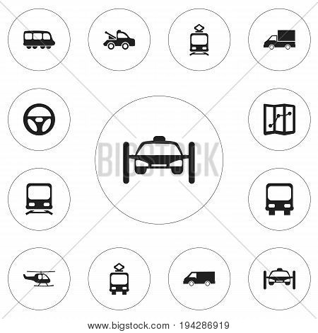 Set Of 12 Editable Transportation Icons. Includes Symbols Such As Navigation, Tramcar, Washing Auto And More. Can Be Used For Web, Mobile, UI And Infographic Design.