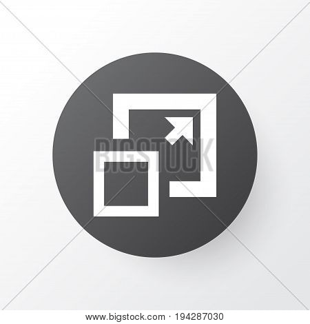Enlarge Icon Symbol. Premium Quality Isolated Maximize Element In Trendy Style.