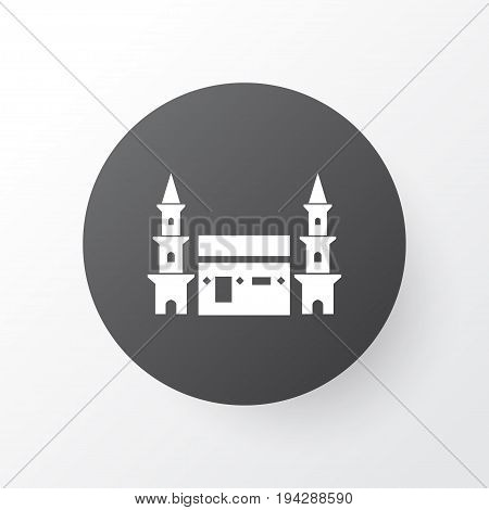 Mecca Icon Symbol. Premium Quality Isolated Hejaz Element In Trendy Style.