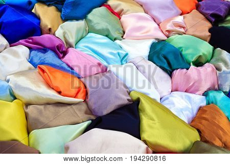 Silk Cloth Textile Fabrics Of Textured Texture Background
