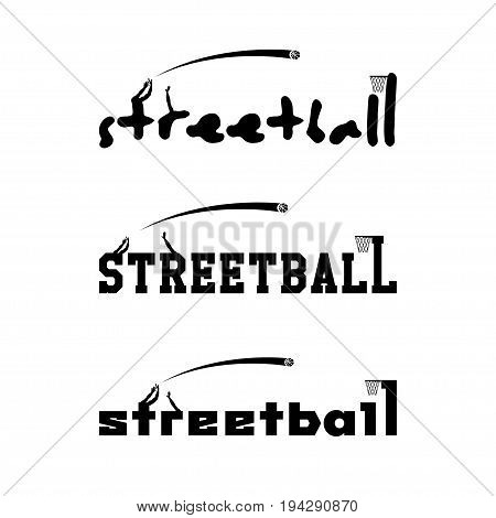 Streetball logo for the team and the cup. vector illustration