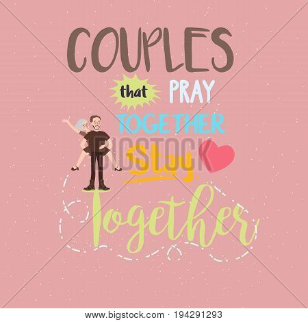 quotes relationship couple pray together stay romantic vector