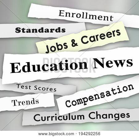 Education News Jobs Teaching Standards Headlines Illustration