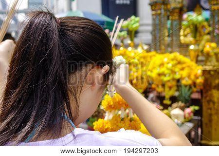 Erawan Temple In Bangkok, Thailand
