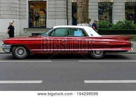 BERLIN - JUNE 17 2017: Full-size luxury car Cadillac Fleetwood 1962. Classic Days Berlin 2017.