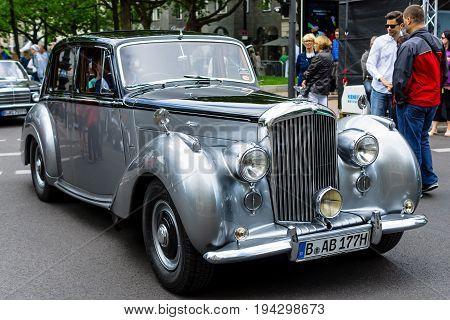 BERLIN - JUNE 17 2017: Luxury car Bentley R Type 1954. Classic Days Berlin 2017.