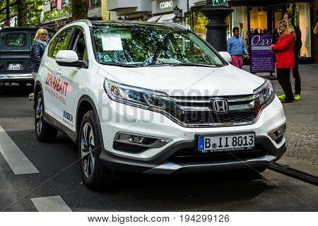 BERLIN - JUNE 17 2017: Compact crossover SUV Honda CR-V 2017. Classic Days Berlin 2017.
