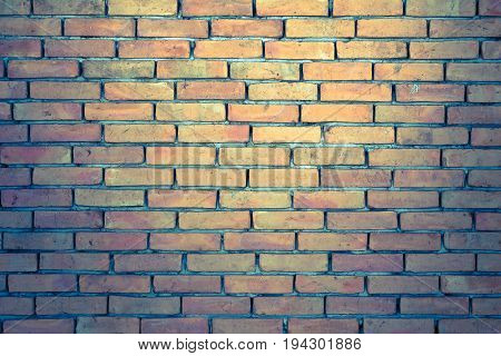 Brick wall texture background for interior, exterior or industrial construction concept design. Vintage style effect picture.