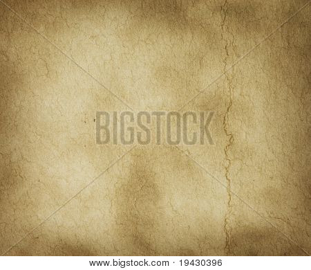 Parchment texture with slight crease mark poster